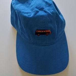 blue new trendy bus embroidery baseball cap hat
